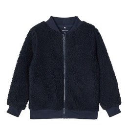 Teddy Sweat Cardigan Blue