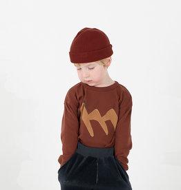 Rib Tshirt Rust Brown
