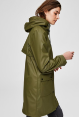 Selected Femme Rainie Rain Coat Green