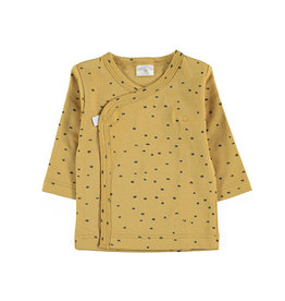 LS Side Snap Tee Yellow