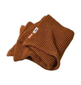 Waffle Blanket brown 80x100