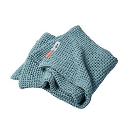 Done by Deer Waffle Blanket Blue 80x100