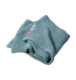 Waffle Blanket Blue 80x100