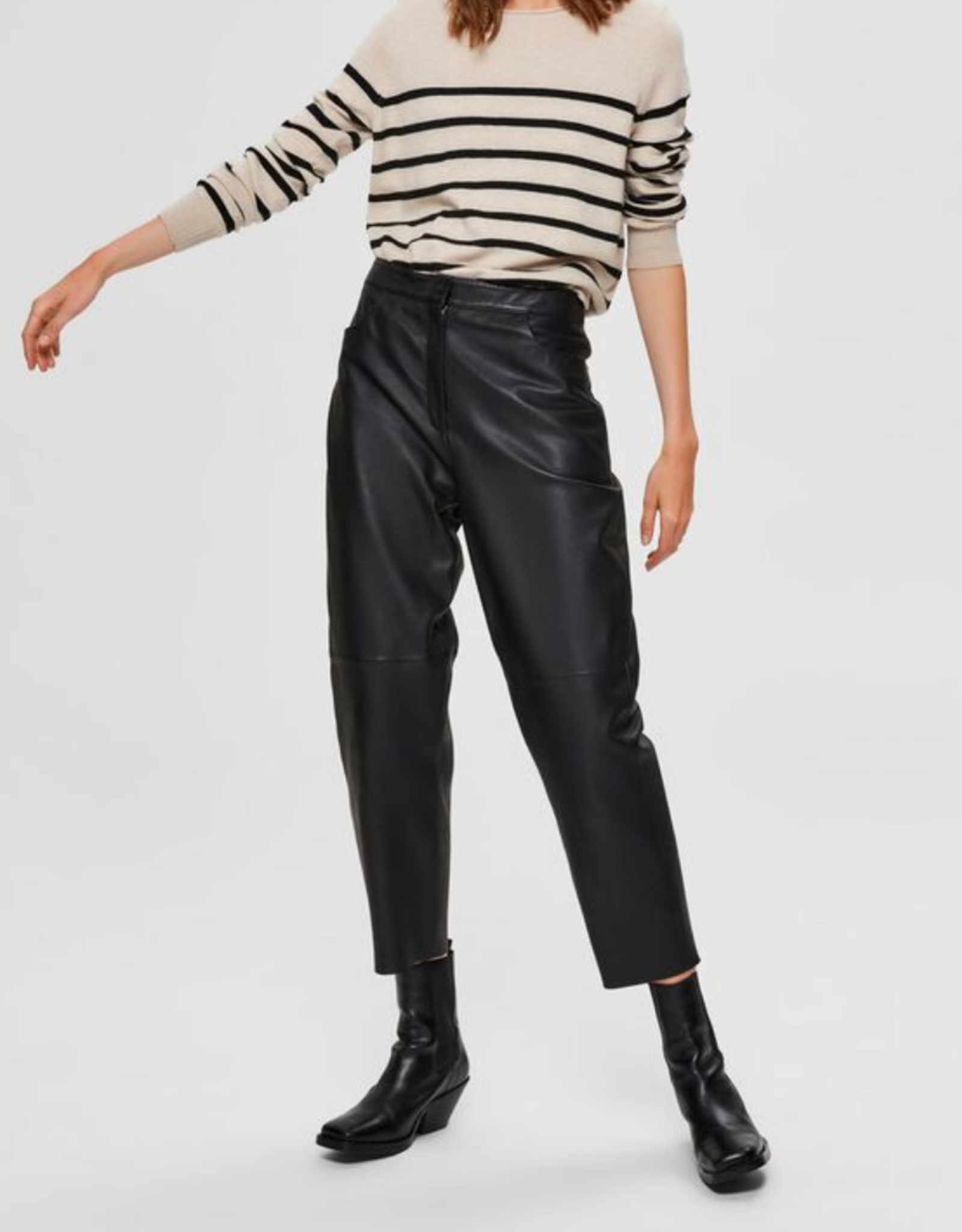 Agnes Cropped Pant Leather