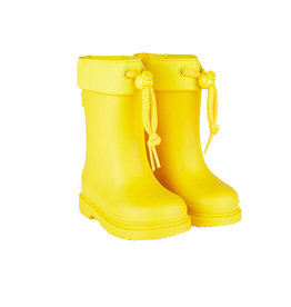 Chufo Rain Boots Fur Yellow