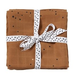 Done by Deer DONE BY DEER SWADDLE 2PACK DOTS - MUSTARD