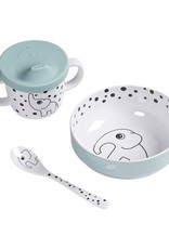 First Meal Set Happy Dots Blue