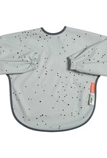 Sleeved Bib Dreamy Dots Gray