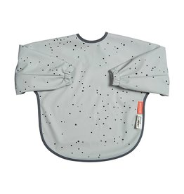 Sleeved Bib Dreamy Dots Gray