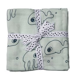 Done by Deer DONE BY DEER SWADDLE 2PACK  - BLUE