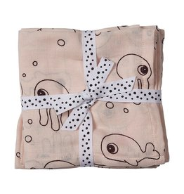 Swaddle 2 Pack Sea Friends Powder