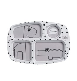Done by Deer Compartment Plate Grey