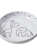 Yummy Mini Plate Grey Dots