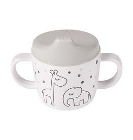 Done by Deer Two Handle Cup Gray