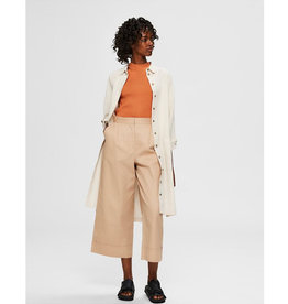 Wave Cropped Pants beige