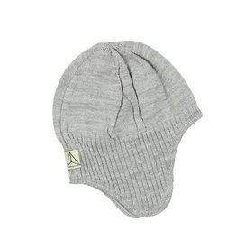 Wool Hat Knit Grey