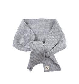 Wool Scarf Knit Grey