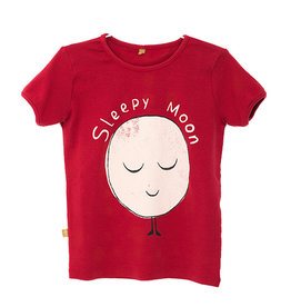 Retro Tee Sleepy Moon Red