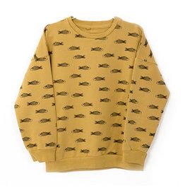 Sweatshirt Fishes Ochre