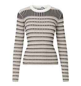 Lazio Knit Beige Stripe