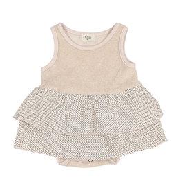 Buho Mini Dots Combi Dress Rose