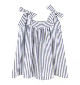Kids on the moon Bow Top Blue/Stripe