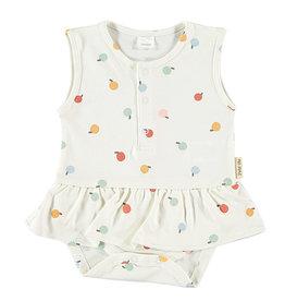 Sofi Dress Apple/White