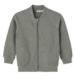 NAME IT DION CARDIGAN - GRAY