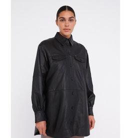 Nancy Leather Jacket Black
