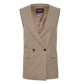 Navya Suiting Waistcoat Brown