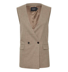 Soaked in Luxury SOAKED IN LUXURY NAVYA SUITING WAISTOAT - BROWN