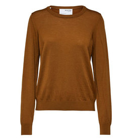 Selected Femme SELECTED FEMME - MAGDA WOOL LS KNIT BROWN