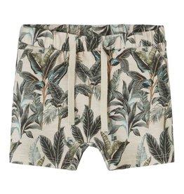 Jannik Shorts Beige Leaves