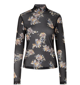 Just Female JUST FEMALE ANILIA BLOUSE - FLORAL/BLACK