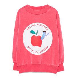 Apple Sweatshirt Red