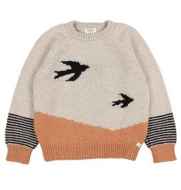 Buho Birds Sweater Beige