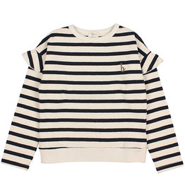 Buho Ruffle Sweater  Stripe/Blue