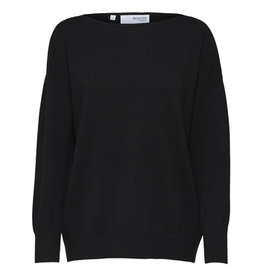 Selected Femme SELECTED FEMME LINIKA CASHMERE SWEAT - BLACK