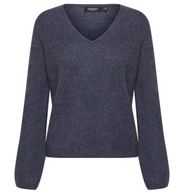 Soaked SOAKED IN LUXURY TUESDAY  V-NECK SWEATER - BLUE