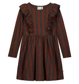 Mainio MAINIO WOOL DRESS STRIPE - RED