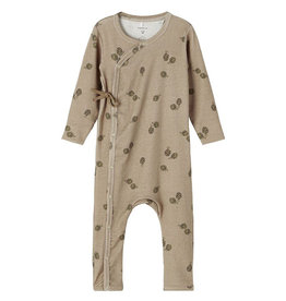 NAME IT LIRRO WRAP SUIT - BROWN