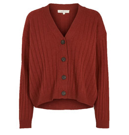 Basic apparel BASIC APPAREL LINE CARDIGAN - RED