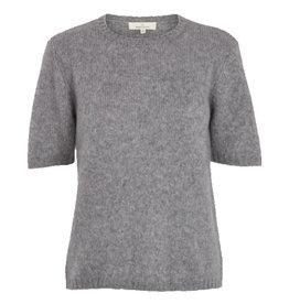 Basic apparel BASIC APPAREL MARNIE KNIT TEE - GRAY