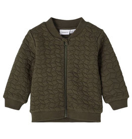 NAME IT NILLER QUILT JACKET - GREEN