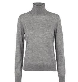 Basic apparel BASIC APPAREL VERA ROLL NECK - GRAY