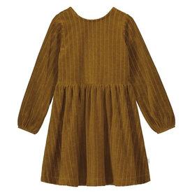 Mai Nio MAINIO VELOUR DRESS - BROWN