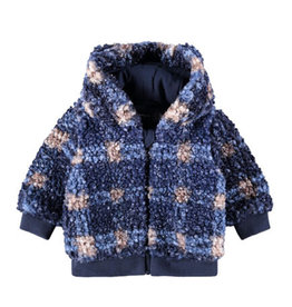 NAME IT MAZIE JACKET CHECKERED - BLUE