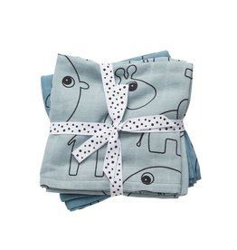 Done by Deer DONE BY DEER BURP CLOTH 2PACK CONTOUR - BLUE