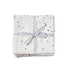 Done by Deer DONE BY DEER BURP CLOTH 2PACK DOTS - WHITE
