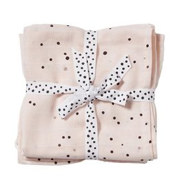 Done by Deer DONE BY DEER SWADDLE 2PACK DOTS - POWDER